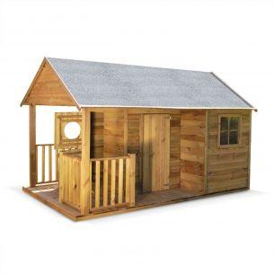 ROSE Maisonnette avec véranda en bois FSC de 4,5m², Rose -  cabane en pin autoclave