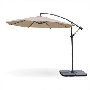 Hardelot Round Hardelot cantilever parasol Ø 300cm offset Beige 8 ribs
