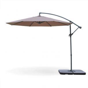 Hardelot Round Hardelot cantilever parasol Ø 300cm offset Taupe 8 ribs